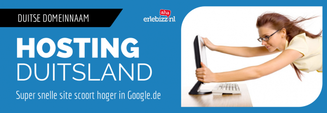 Duitse domeinnaam en betrouwbare snelle hosting voor Duitslandregel je via AhaErlebizz